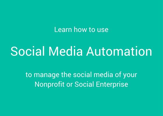 social media automation nonprofit charity