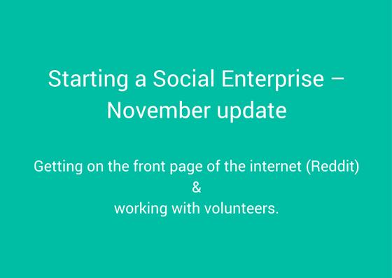 starting a social enterprise - november