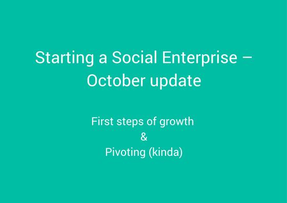 starting a social enterprise - october