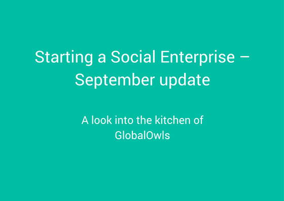 starting a social enterprise - september update