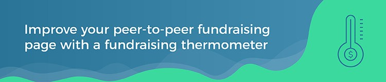 How to improve your peer-to-peer fundraising page with a fundraising thermometer