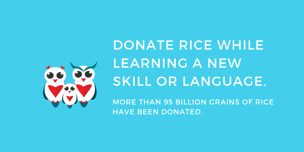 Free Rice - Donate rice while learning a new skill