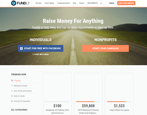 Fund.ly online fundraising platform