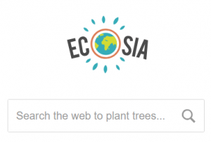 use Ecosia to plant trees while searching the web