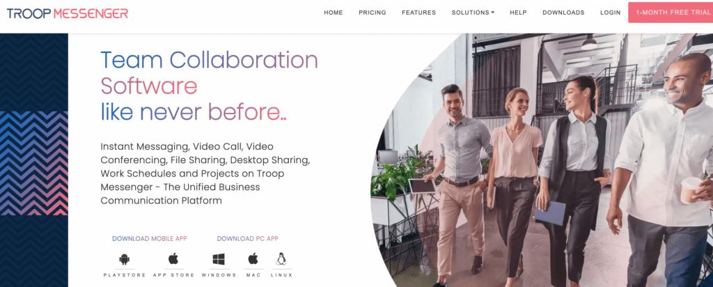 troop messenger collaboration software