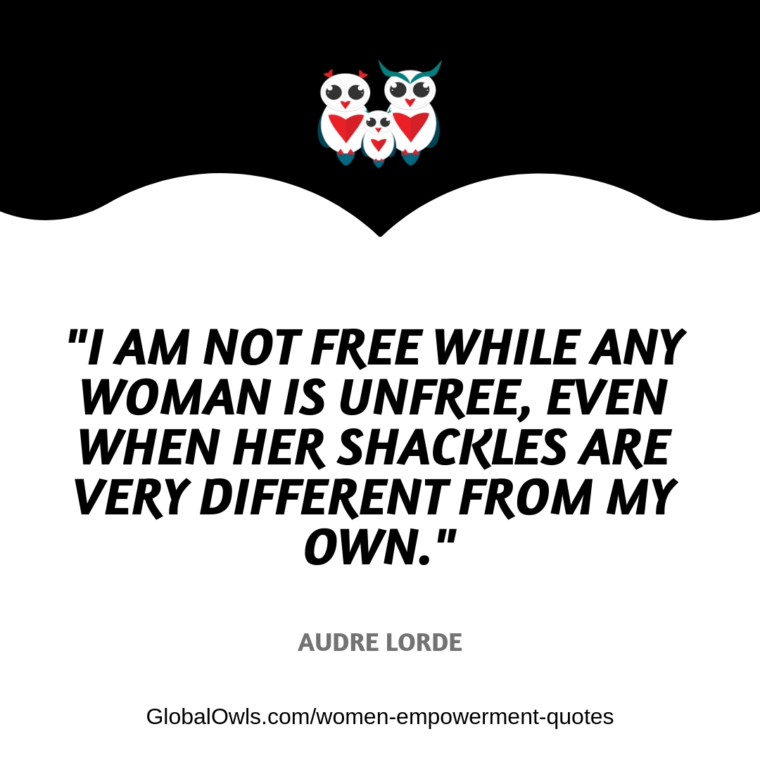 women empowerment quotes Audre Lorde