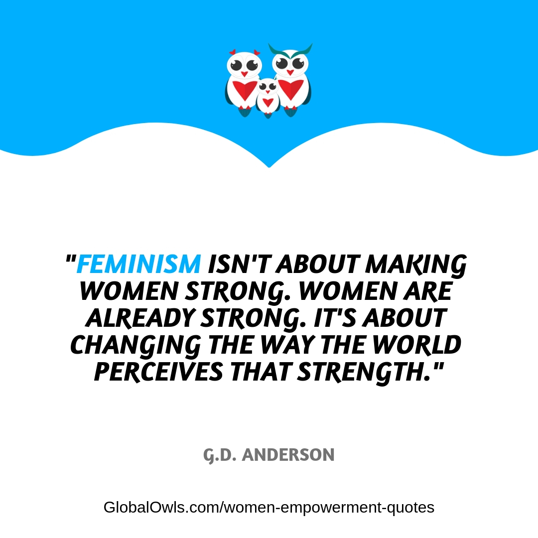 women empowerment quotes G.D. Anderson