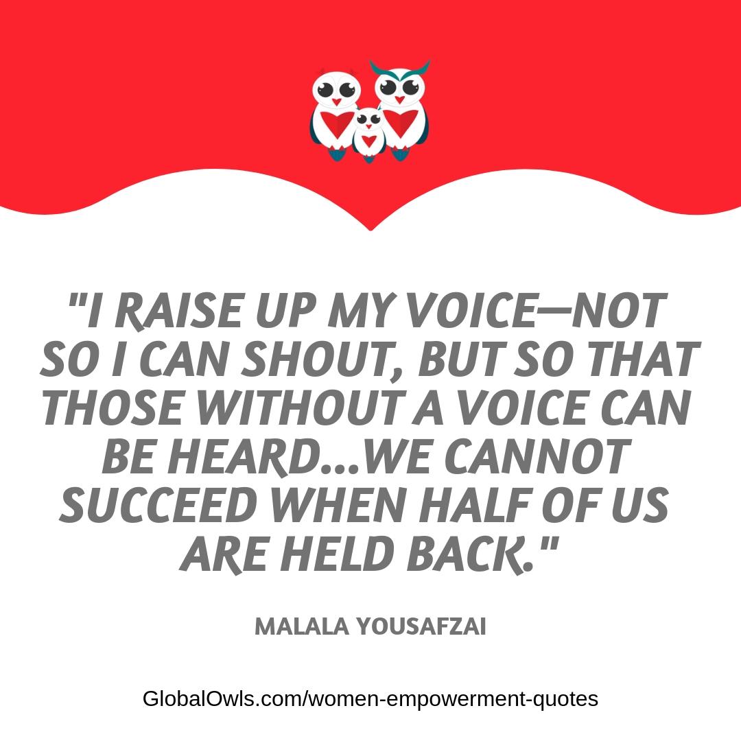 women empowerment quotes Malala Yousafzai