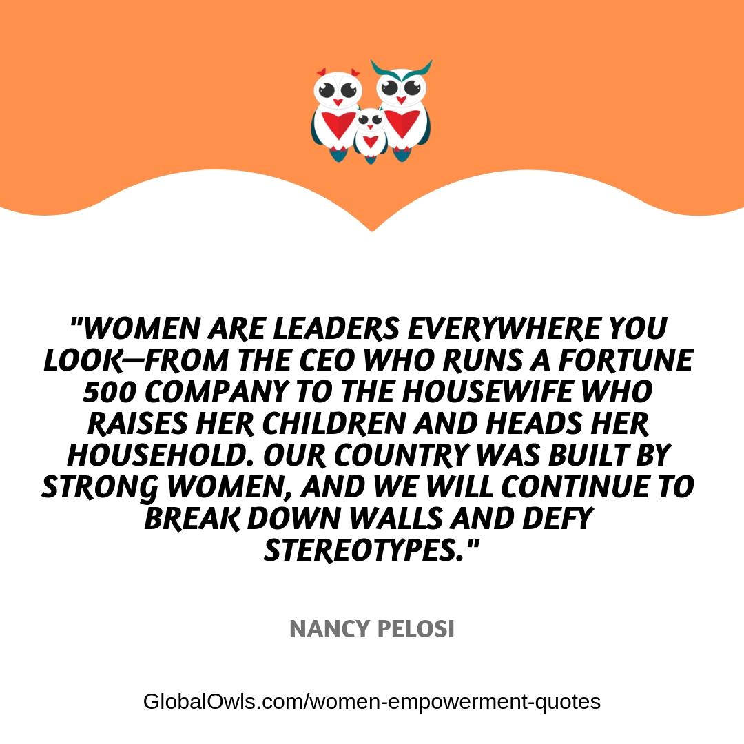 women empowerment quotes Nancy Pelosi