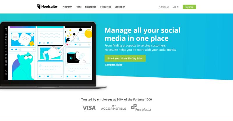 social media tool Hootsuite