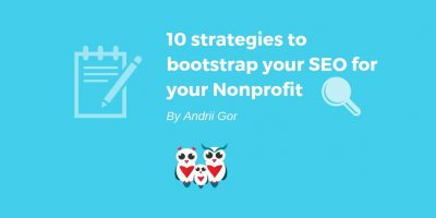 10 strategies to bootstrap your SEO for your Nonprofit