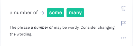 Cut down on the wordiness in Grammarly
