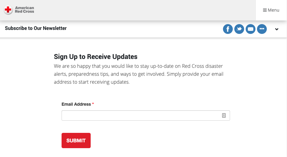 American red cross email
