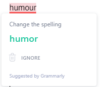 regional variety words in grammarly