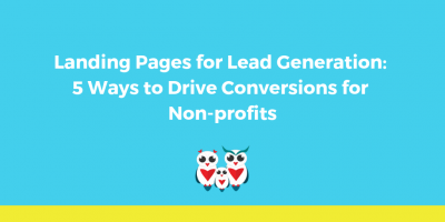 landing pages for lead generation nonprofits