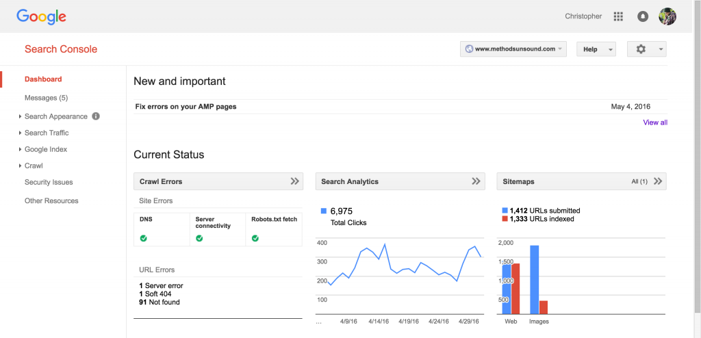 free seo tool Google Search Console