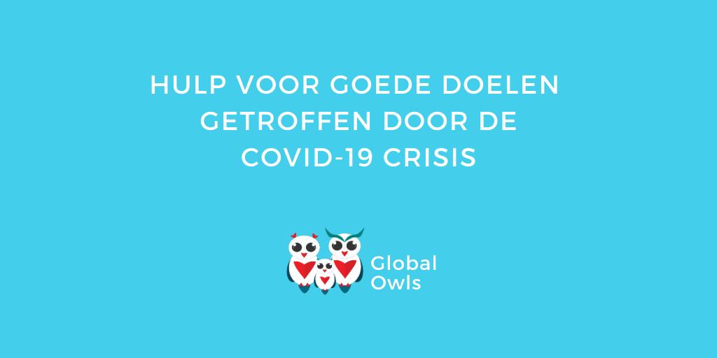 Hulp voor goede doelen getroffen door de COVID-19 crisis