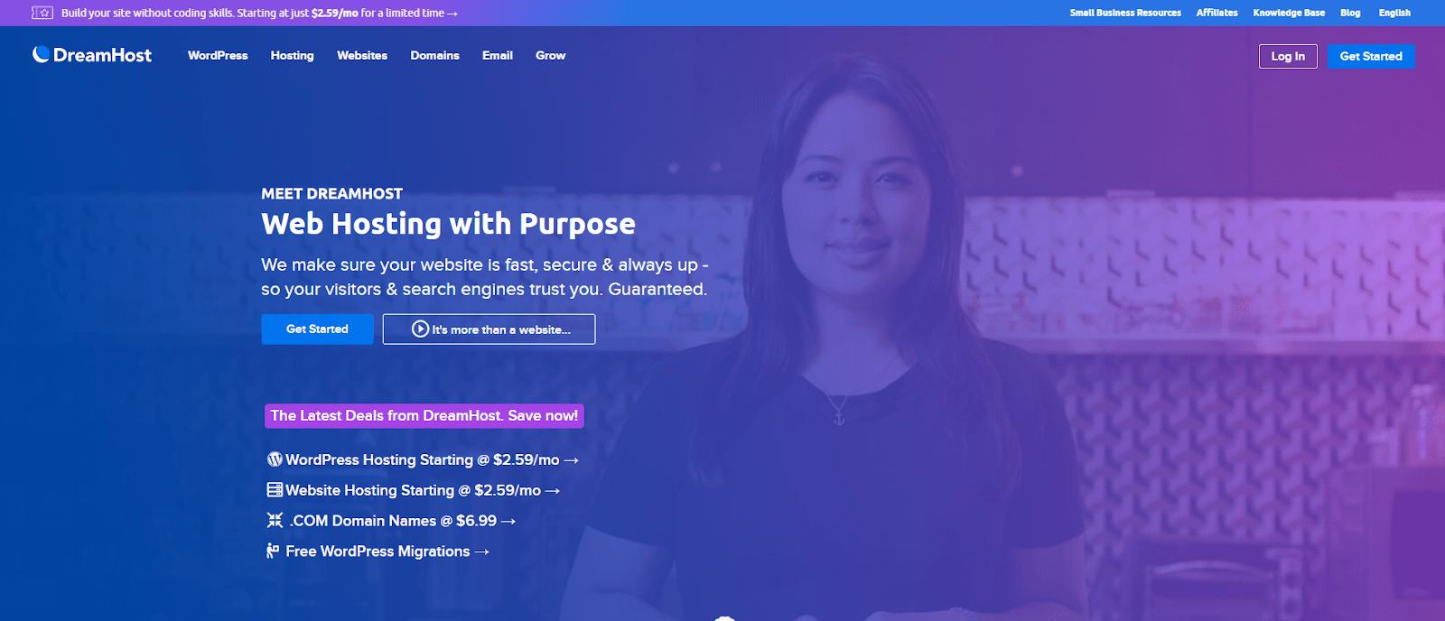 DreamHost Web Host Nonprofits