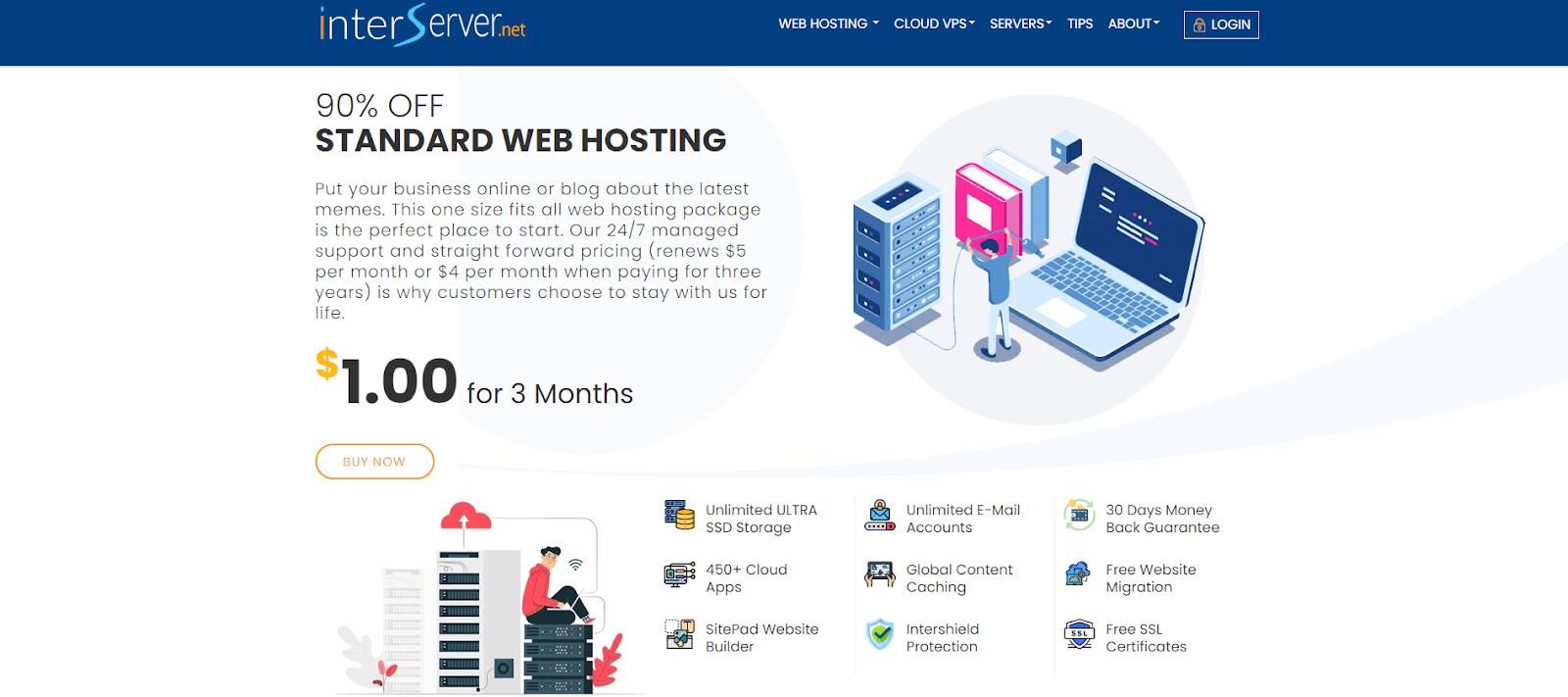 Interserver web host