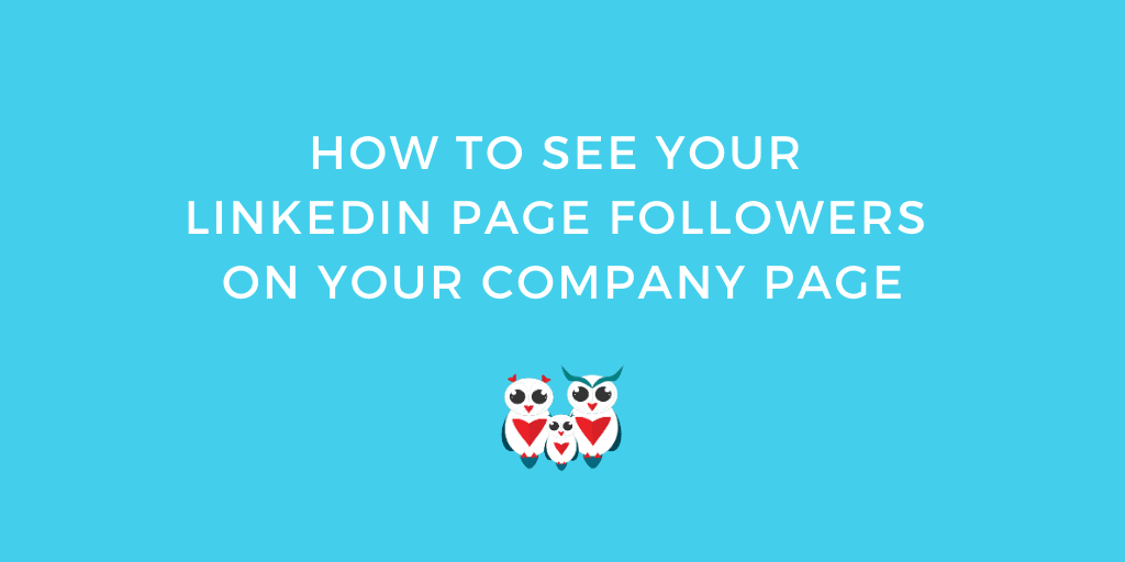 How to see your LinkedIn page followers on your company page
