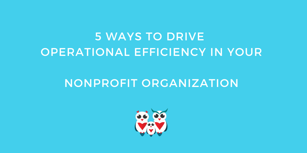 5 Ways to Drive Operational Efficiency in Your Nonprofit Organization