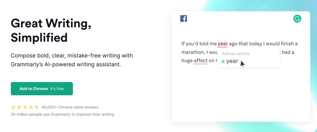 Grammarly content creation platform