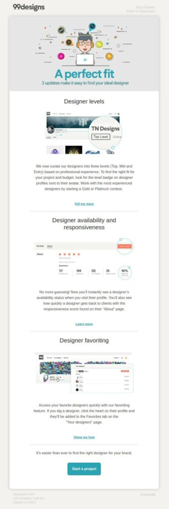 99designs quality content email