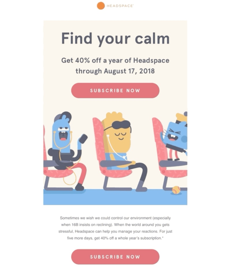 headspace animation email design