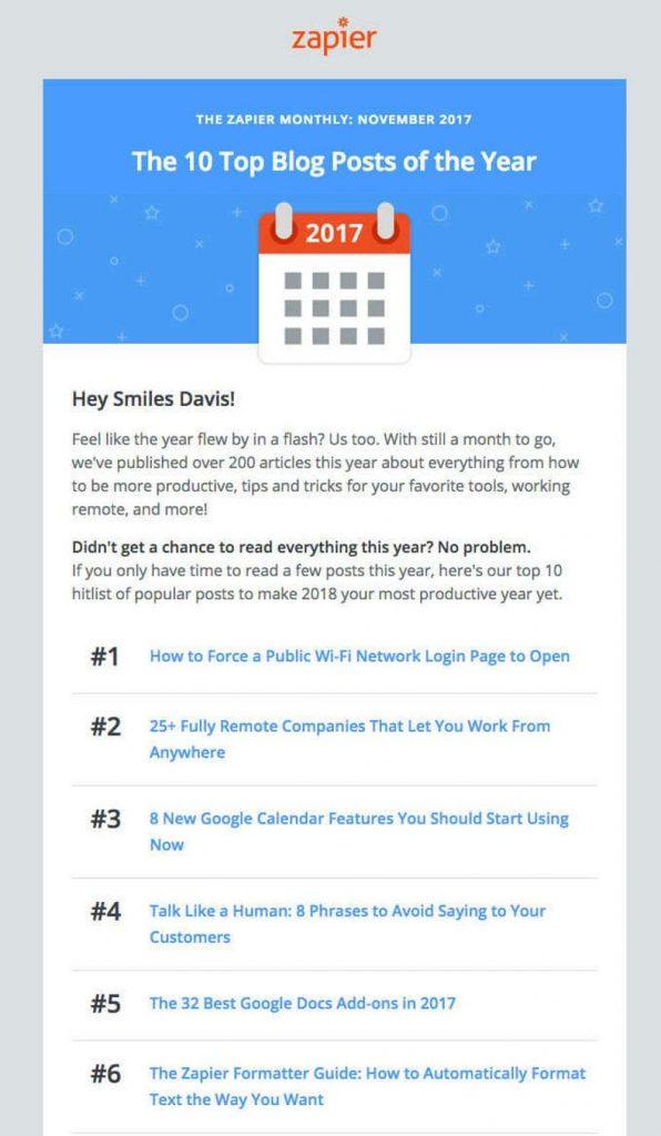 zapier straight forward email offer